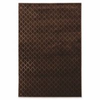 Linon Home Charisma Trellis 2' x 3' Accent Rug in Brown