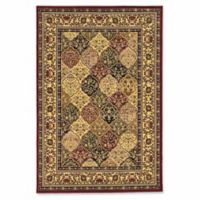Linon Home Empress Kerman 9' x 12' Area Rug in Red