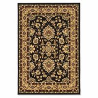 Linon Home Empress Isphahan 9' x 12' Area Rug in Black