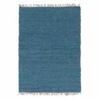 Linon Home Zara 5' x 7'6 Handwoven Berber Area Rug in Sage