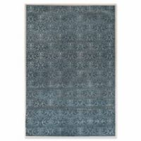 Linon Home Charisma Damask 8' x 10'3 Area Rug in Blue