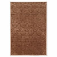 Linon Home Charisma Damask 8' x 10'3 Area Rug in Brown
