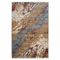 Linon Home Techtonics Marble 5' x 8' Power-Loomed Area Rug in Blue
