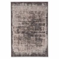 Linon Home Charisma Damask 2' x 3' Power-Loomed Accent Rug in Grey