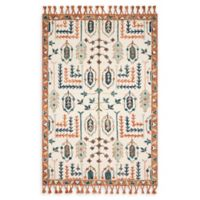 Magnolia Home by Joanna Gaines Kasuri 9'3 x 13' Area Rug in Ivory/Persimmon