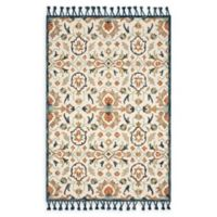 Magnolia Home by Joanna Gaines Kasuri 9'3 x 13' Area Rug in Ivory/Multi