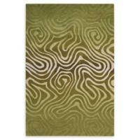 Nourison Contour Avocado 5' x 7'6 Area Rug in Green