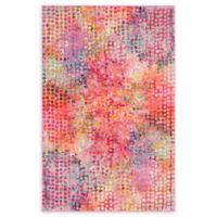 Unique Loom Bondi Spectrum Cotton Candy 4' X 6' Powerloomed Area Rug in Cotton Candy