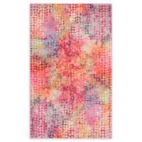Unique Loom Bondi Spectrum Cotton Candy 5' X 8' Powerloomed Area Rug in Cotton Candy