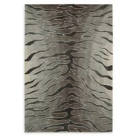 Nourison Contour 5' x 7'6 Handcrafted Area Rug in Silver
