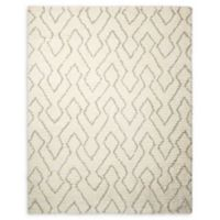 Galway 5' x 7' Shag Handcrafted Area Rug in Ivory/Sage
