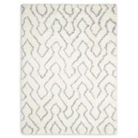 Nourison Galway 5' x 7' Shag Handcrafted Area Rug in Ivory/Blue