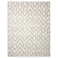 Nourison Galway 7'6 x 9'6 Shag Handcrafted Area Rug in Ivory/Blue