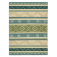Nourison India House 3'6 x 5'6 Handcrafted Area Rug in Blue/Green