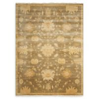 Nourison Grand Estate 5'6 x 8' Hand-Knotted Area Rug in Sage