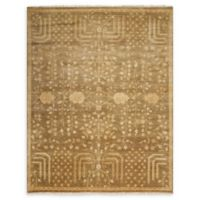 Nourison Grand Estate 5'6 x 8' Hand-Knotted Area Rug in Mushroom