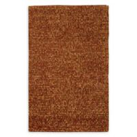 Nourison Fantasia 3'6 x 5'6 Shag Handcrafted Area Rug in Rust