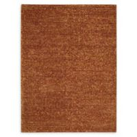 Nourison Fantasia 5'6 x 7'5 Shag Handcrafted Area Rug in Rust