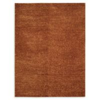 Nourison Fantasia 8' x 11' Shag Handcrafted Area Rug in Rust