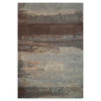 Calvin Klein Home Luster Wash 5'6 x 8' Handcrafted Area Rug in Slate