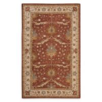 """Nourison India House 3'6"""" x 5'6"""" Handcrafted Area Rug in Brick"""