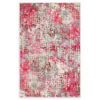 Unique Loom Bondi Spectrum Pink 4' X 6' Powerloomed Area Rug in Pink