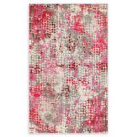 Unique Loom Bondi Spectrum Pink 5' X 8' Powerloomed Area Rug in Pink