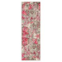 Unique Loom Bondi Spectrum Pink 6' Runner Powerloomed in Pink