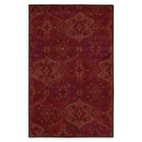 """Nourison India House 3'6"""" x 5'6"""" Handcrafted Area Rug in Red"""