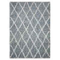 Nourison Galway 7'6 x 9'6 Hand-Tufted Shag Area Rug in Grey/Ivory