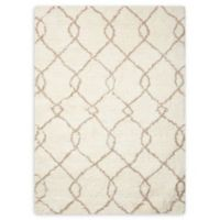 Nourison Galway Trellis 7'6 x 9'6 Area Rug in Ivory/Tan