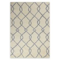 Nourison Galway Trellis 7'6 x 9'6 Area Rug in Ivory/Blue