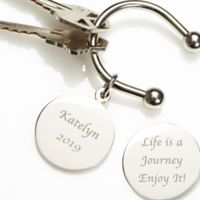 """""""Life is a Journey"""" Silver-Plated Keyring"""