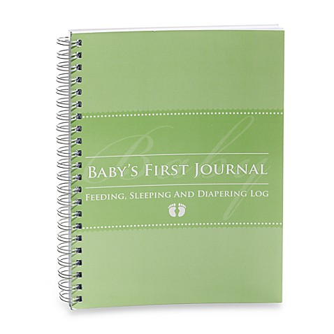 Glow Baby® Baby's First Journal in Green