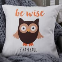 Personalized Woodland Adventure Owl 18-Inch Baby Throw Pillow