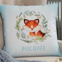 Woodland Fox Personalized 14-Inch Throw Pillow