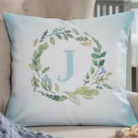 Woodland Initial Personalized 14-Inch Throw Pillow