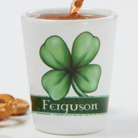 Good Luck Clover Personalized Shot Glass