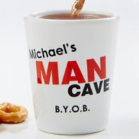 Man Cave Personalized Shot Glass