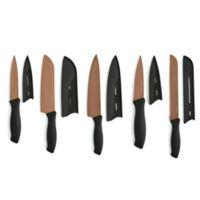 Cambridge® Silversmiths 10-Piece Cutlery Set in Black/Copper