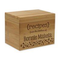 Markings Bamboo Recipe Box