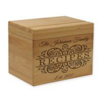 Recipes Established Date Bamboo Recipe Box
