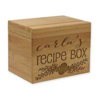 Bunched Vine Leaf Bamboo Recipe Box