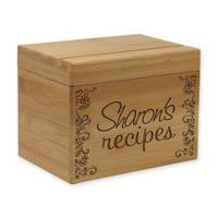 Alternate Scroll Detail Bamboo Recipe Box