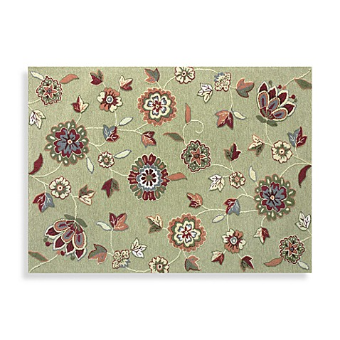 Loloi Rugs Juliana Collection Handcrafted 7-Foot 6-Inches x 9-Foot 6-Inches Floral Rug in Green