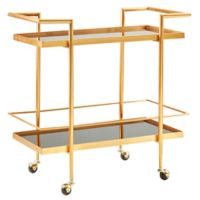 Madison Park Cosie Bar Cart in Black/Gold