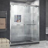"""DreamLine Cavalier 56-60"""" Semi-Frameless Shower Door in Polished Stainless Steel"""