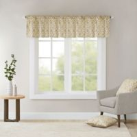 Madison Park Delray Printed Diamond Valance in Tan