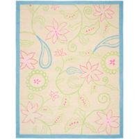 Safavieh Kids® Floral Border Area Rug in Ivory/Blue