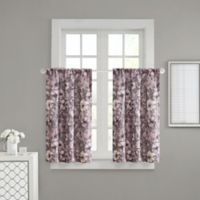 Adaline 32-Inch Rod Pocket Window Curtain Panels in Purple (Set of 2)